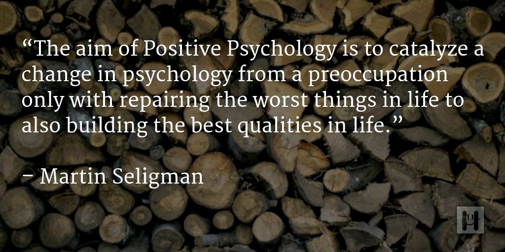 Seligman qupte on Positive Psychology
